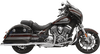 Bassani True Dual Performance Exhaust System for '14-Up Indian Chieftain Choose Black or Chrome