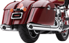 Cobra 4 inch Scalloped Tip Slip On Mufflers for '15-Up Indian Chief, Chieftain, Roadmaster Chrome