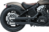 Crusher Maverick 2.5 inch Slip On Mufflers for '15-Up Indian Scout Models Chrome or Matte Black