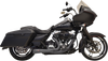 Bassani Short Road Rage 2 into 1 Exhaust for '95-16 Harley Davidson Touring