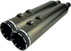 Khrome Werks 4.50 inch HP-Plus Slip On Mufflers for '17-Up Harley Davidson Touring Models 6 Styles