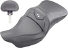 Saddlemen Extended Reach Road Sofa Seats for '08-Up Harley Davidson Touring - Carbon Fiber
