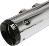 S&S Cycle 4.5 inch GNX Slip-On Mufflers for '17-Up Harley Davidson Touring Models - Chrome