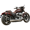 S&S Cycle Super Street 2 into 1 Exhaust for '18-Up Harley Davidson Softail Models - Black or Chrome