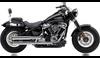 Cobra 3 inch RPT Slip On Mufflers for '18-Up Harley Davidson FLHC, FLDE Models - Chrome