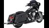 Vance & Hines Dresser Duals Headers for '09-16 Harley Davidson Touring Models - Black