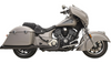 Bassani True Dual Exhaust System for '15-19 Indian Chieftain and Roadmaster - Black