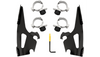 Memphis Shades Fats/Slim Windshield Trigger-Lock Complete Mount Kit for 15-Up Indian Scout - Black