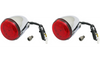 Custom Dynamics ProBeam Rear LED Turn Signals for '15-21 Indian Touring - Chrome/Red