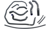 Samco Sport Radiator Hose Kit for '16-20 Indian Scout Models - Standard
