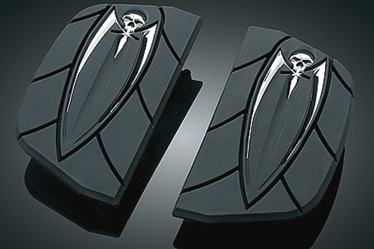 Harley Davidson Models Kuryakyn Zombie Driver Floorboards /& Passenger Inserts