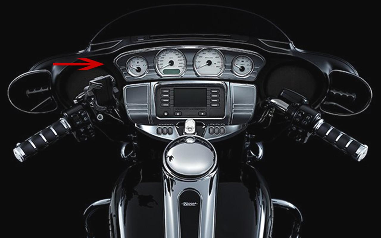 Kuryakyn Tri-Line Stereo Trim Chrome Deluxe Kit 7240
