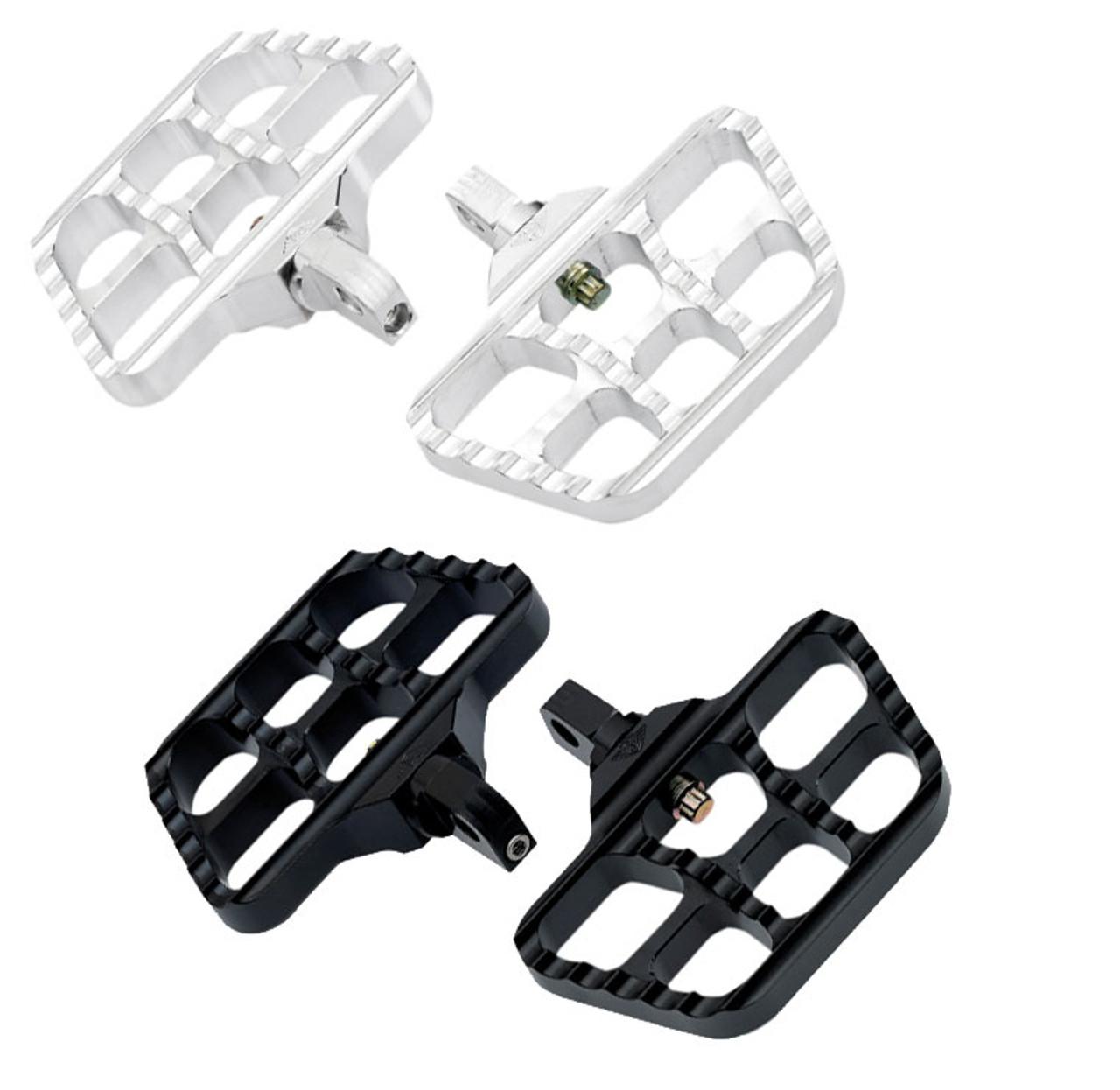 Joker Machine Mini Serrated Floorboards for Harley Davidson Footpeg Mounts - Choose Chrome or Black - WestEndMotorsports.com