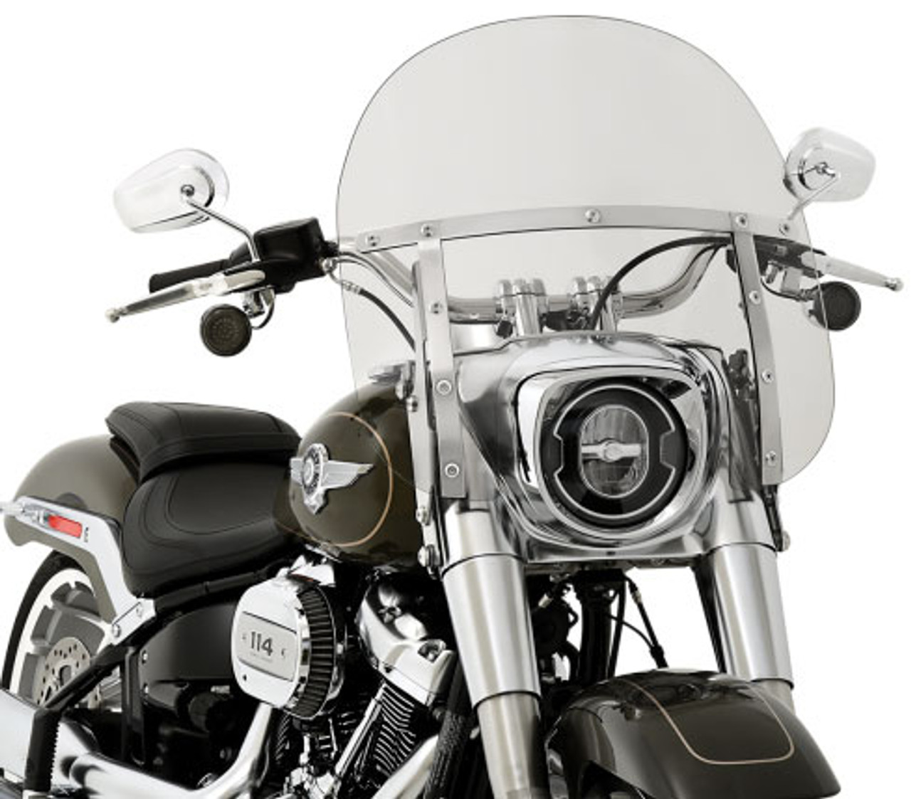 Harley Davidson Windshields >> Memphis Shades Fats Windshield For 2018 Up Harley Davidson Fatboy