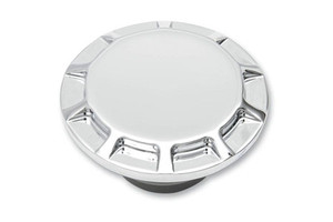 Drag Specialties DS-390134 Live To Ride Vented Gas Cap for 84-E96 Models Chrome