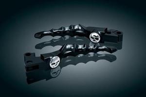 Kuryakyn Chrome Zombie Brake Clutch Levers Harley Models Cable Clutch 96-15