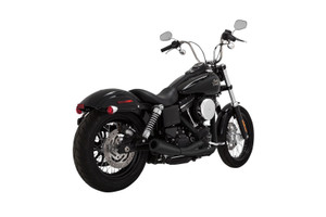 Vance & Hines 2-into-1 Upsweep Exhaust for '06-Up Dyna Models - Black [46722]