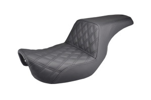 Saddlemen Step Up Seat with GelCore for '04-Up Harley Davidson Sportster XL Models w/ 3.3 Gal Tank- (LS) Lattice Stitch [0804-0652]