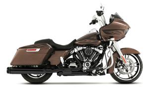 Rinehart Racing Slimline Duals Header Kit for Harley Davidson Touring Models '17-Later Black [100-0453]