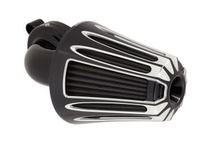 Arlen Ness Monster Sucker Air Kit Deep Cut Cover, Black for Harley Touring, '08-16 Softail Models, '16-Up FXDLS