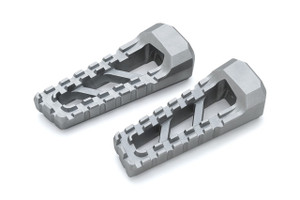 Kuryakyn Riot Footpegs in Silver - Requires Model Specific Splined Adapter (Sold Separately) (3598)