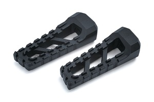 Kuryakyn Riot Footpegs in Satin Black - Requires Model Specific Splined Adapter (Sold Separately) [3599]