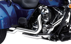 Cobra PowerPort Dual Head Pipes Harley Davidson Trike & Freewheeler Models '10-16 - Chrome (Mufflers Not Included) (6254)