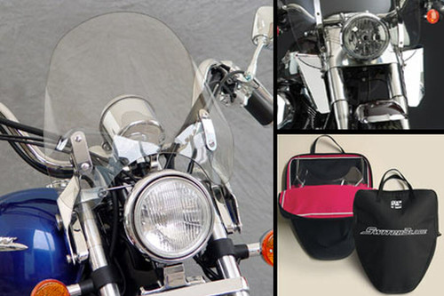 National Cycle SwitchBlade Windshield for Certain Honda & Yamaha Models - Deflector Style Click for fitment