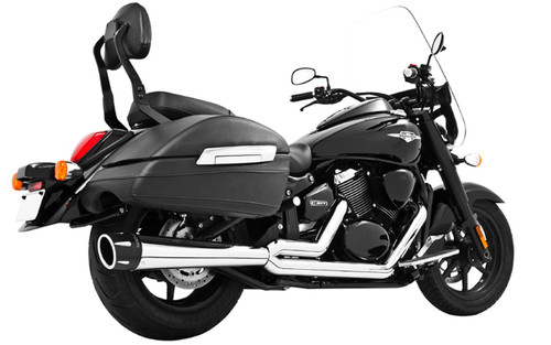 Freedom Performance Combat Outlaws 2-Into-1 Exhaust for C90  '13-16  -Chrome w/ Chrome Tip (Shown with Black Tip)