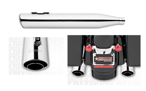 Freedom Performance Exhaust 4 inch Liberty Slip-Ons for '95-17 Harley Davidson Touring - Chrome