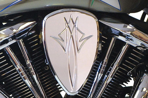 Barons Custom Big Air Kit for Road Star  '99-07  Pinstripe Chrome