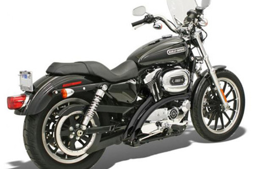 Bassani Radial Sweepers for Harley Davidson XL '07-13 Black - Exhaust NOT FOR USE WITH PASSENGER FOOTPEGS