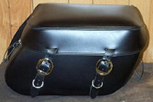 Leather Pro 3000 Series Leather Saddlebags for Sportster XL '94-Up  -Plain