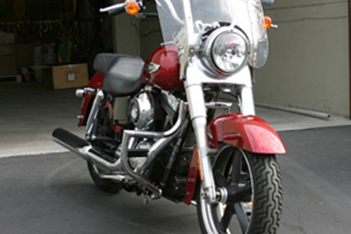 Lindby Linbar Front Highway Bars with Footpegs for Dyna Switchback '12-up