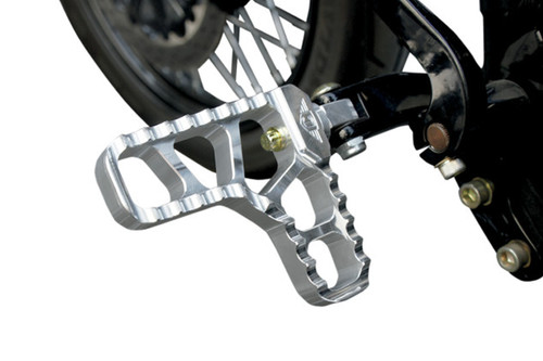 Joker Machine Adjustable Heel Footpegs  for H-D Models -Clear Anodized Finish