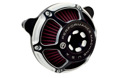 Performance Machine Max HP Air Cleaner for '91-Up XL w/ CV Carb/Delphi EFI -Contrast Cut