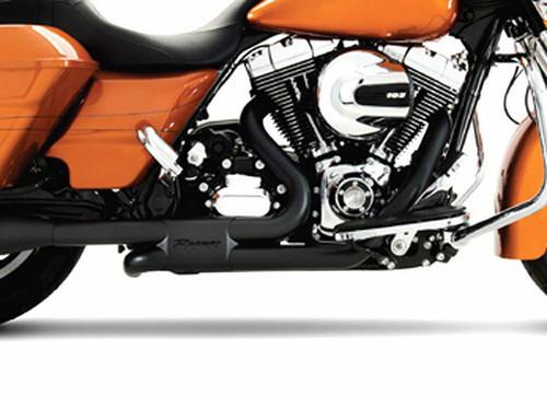 Rinehart Racing Slimline Duals Header Kit for '09-16 Touring Models -Black  HEADERS ONLY-MUFFLERS SOLD SEPARATELY