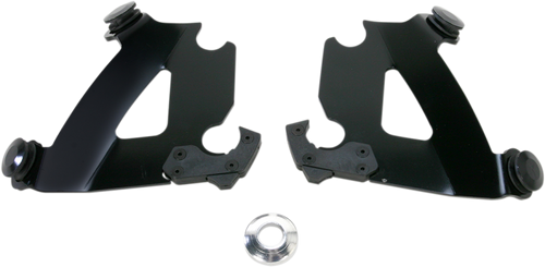 Memphis Shades Cafe Fairing Plate-Only Mount Kit for '86-14 XL (except 883L/1200X, '11-14 1200C) - Black CAFE FAIRING & MOUNTING KITSOLD SEPARATELY