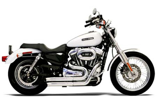 Bassani Exhaust  Firesweep Exhaust w/ Turnout Ends for '07-13 XL Chrome