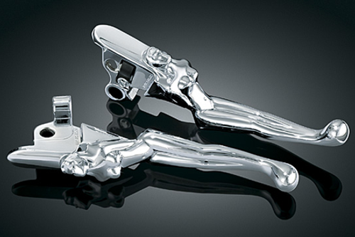 Kuryakyn Silhouette Levers Brake & Clutch Levers for Some '96-Up Harleys w/ Cable Operated Clutch [Click for Fitment]