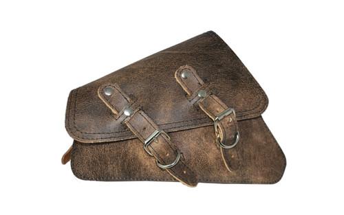 La Rosa Design Left Side Solo Saddlebag for '04-Up XL Models -Brown