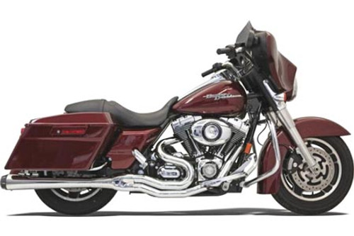 Bassani Road Rage II  2-Into-1 B4 POWER SYSTEM for '95-16 FLHT/FLHR/FLHX/FLTR Models -Megaphone Muffler, Chrome