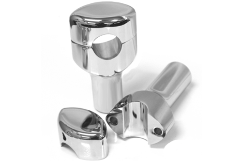 """L.A. Choppers Hefty Risers for 1.25"""" Bars Smooth, 3"""" Tall"""
