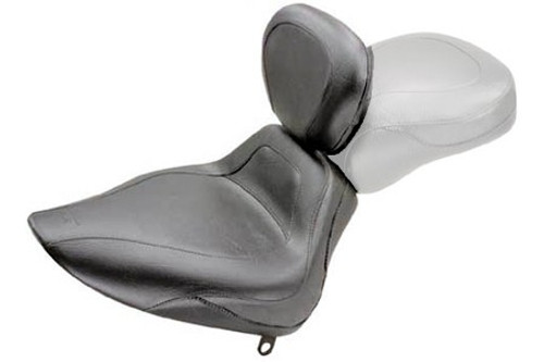 Mustang Sport Solo Seat with Driver Backrest for all Softails '00-06 WITH a 150mm Rear Tire -Plain/Vintage
