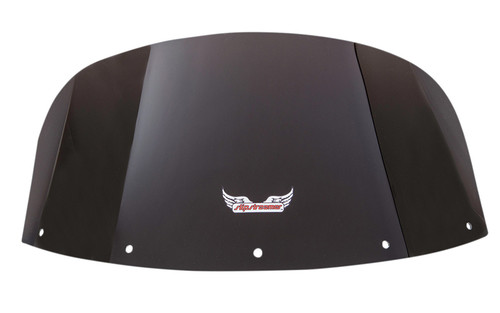 """Slipstreamer Replacement Windshield for 2011-Up Vaquero 1700  - 10"""", Smoke"""