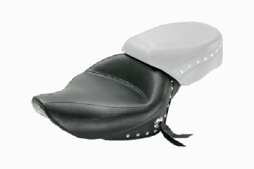 Mustang  Wide Solo Seat  for Sportster '04-up (3.3 gallons) -Studded