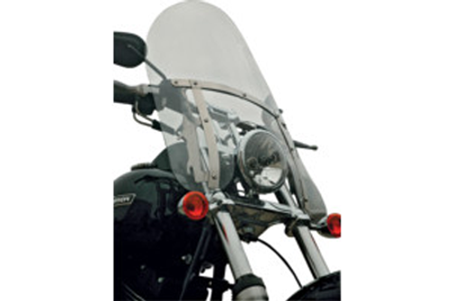Klock Werks Flare Billboard Windshield for '93-05 FXDWG, '86-Up FXST/FXSTC/FXSTB w/ OEM Accessory Detachable Windshield -Clear (Shown in Tint) -20 Inch