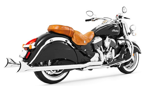 Freedom Performance Sharktail True Duals Complete System for '14-Up Indian Challenger, Chieftain, Roadmaster & Springfield - Chrome