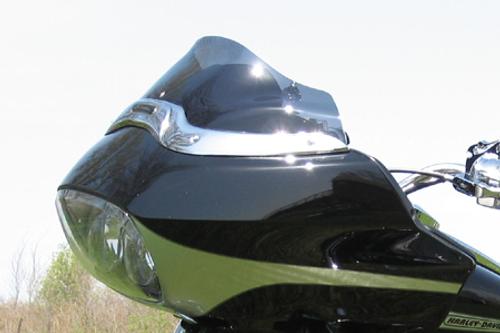 """Klock Werks 8"""" Flare Windshield  for '98-13 FLTR & FLTRI Models -Tinted"""