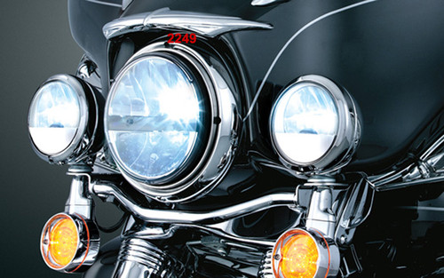 """Kuryakyn Phase 7 L.E.D. Headlamp for Electra Glides, Street Glides, Road Kings, Trikes (except '14 FLHR/C/SE) FLST Models with 7"""" Headlights & Dyna Switchback -Each"""